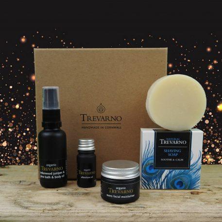 Mens Shaving Kit Gift Set Trevarno Skincare