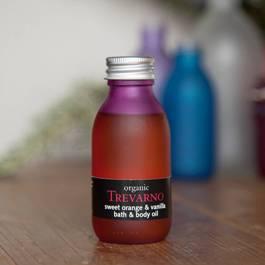 Organic Trevarno Sweet Orange & Vanilla Bath & Body Oil