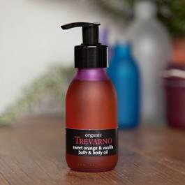 Organic Sweet Orange & Vanilla Bath & Body Oil Trevarno Skincare