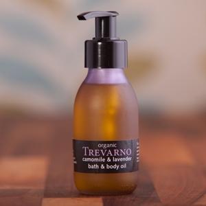 Organic Camomile & Lavender Bath & Body Oil Trevarno Skincare