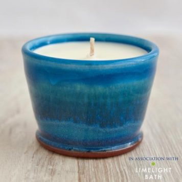 Rupert Blamire Rosemary and Bay Scented Candle - Aqua Marine
