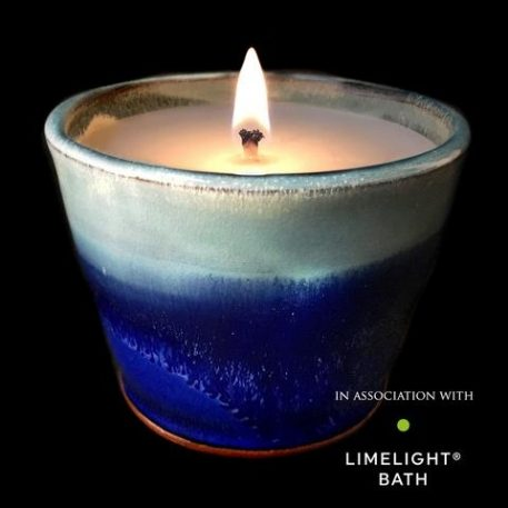 Rosemary and Bay Scented Candle - Deep Sea Blue