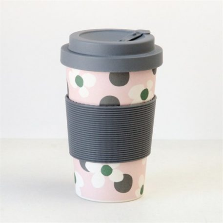 Caroline Gardner Floral Spot Bamboo Coffee Cup - Save Over 30%-0
