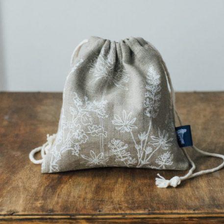 Eco Linen Soap Bag
