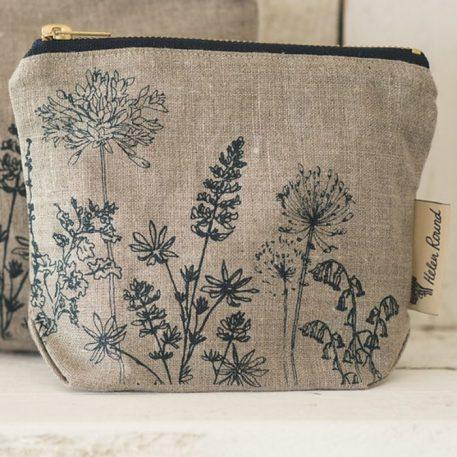 Linen Make Up Bag Garden Design